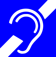 International hearing assistance symbol
